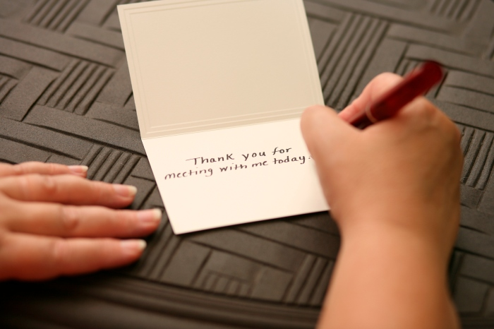 Hand Written Thank You Note
